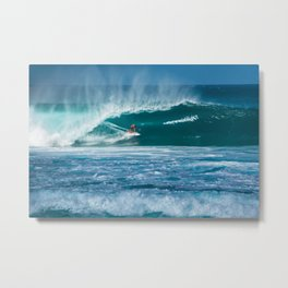 Surfing Hawaii Metal Print