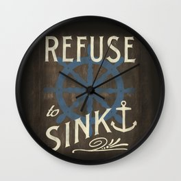 Refuse to Sink Wall Clock