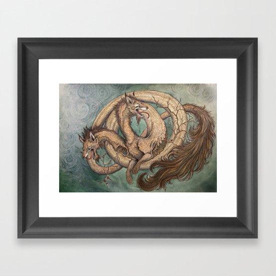 """""""Among the Golden Bones"""" as a print Framed Art Print"""