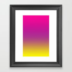 Gorgeous Gradient Ombre Framed Art Print