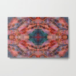 Silk Kaleidoscope Metal Print