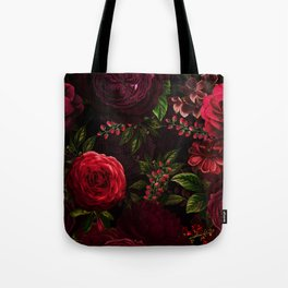 Mystical Night Roses Tote Bag