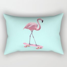 SKATE FLAMINGO Rectangular Pillow