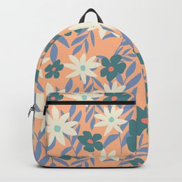 Just Peachy Floral Backpack