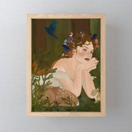 Mielikki, Finnish goddess of the forest Framed Mini Art Print
