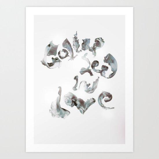Collapsed in Love Art Print