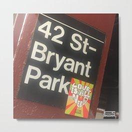 Bryant Park station Metal Print