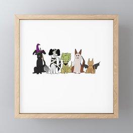 Bark-or-Treat Framed Mini Art Print