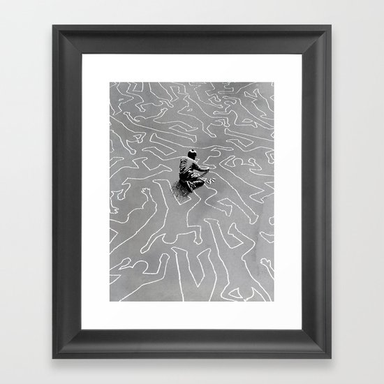 Draw the Line Framed Art Print