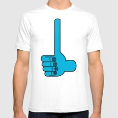 Thumbs Up Mens Fitted Tee White SMALL