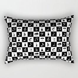 Contemporary Music themed checks Rectangular Pillow