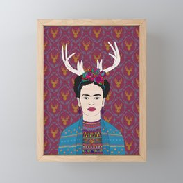 DEER FRIDA Framed Mini Art Print