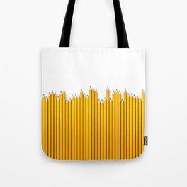 Pencil row / 3D render of very long pencils Tote Bag