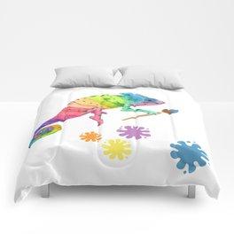 Artist Chameleon Comforters