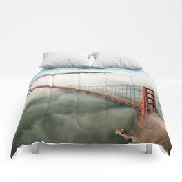 san francisco golden gate bridge Comforters