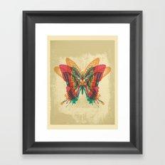 Butterfly Rorschach Framed Art Print