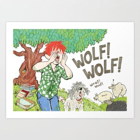 The Boy Who Cried Wolf Art Print