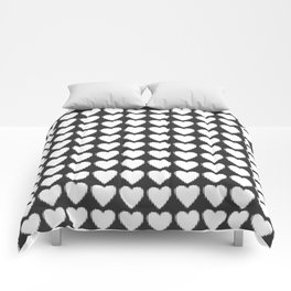 corazones blancos Comforters