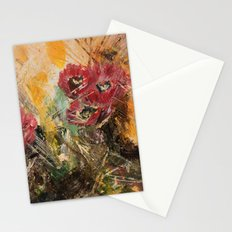 Pink Cactus Flowers Stationery Cards