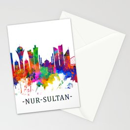 Nur-Sultan Kazakhstan Skyline Stationery Cards