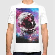 LOOK UP Mens Fitted Tee MEDIUM White