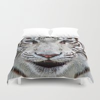 blood Duvet Covers featuring BLUE-EYED BOY by Catspaws