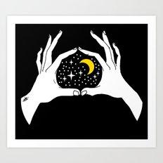 I heart the moon Art Print