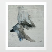 booty Art Prints featuring booty flight by Kay Weber