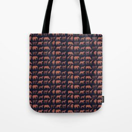 Safari (dusk on navy) Tote Bag