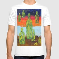 Untitled Abstract Still Life MEDIUM White Mens Fitted Tee