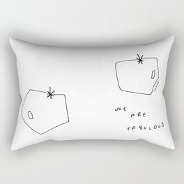 Words from Tomatoes - food vegetable illustration Rectangular Pillow