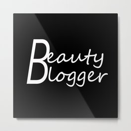 Fashion City: Beauty Blogger Metal Print