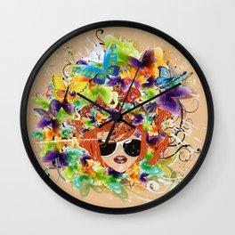 Frühlingserwachen Wall Clock