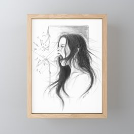 Pain into anger Framed Mini Art Print