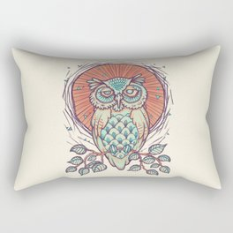 Owl on branch Rectangular Pillow