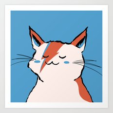 A Cat Insane Art Print