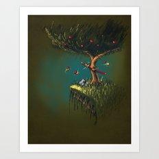 Apple Ninja Art Print