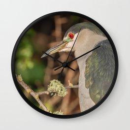 Night Heron Wall Clock