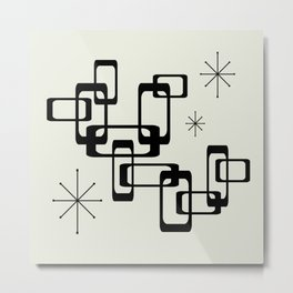 Atomic Era Minimalism Metal Print