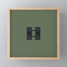 Captain (Green) Framed Mini Art Print
