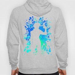 Anime Paint Splater Inspired Shirt Hoody