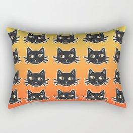 Black Cats Halloween Pattern Rectangular Pillow