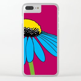 The ordinary Coneflower Clear iPhone Case