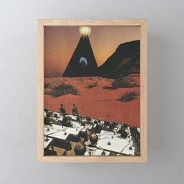 TRIANGLE Analog Collage  Framed Mini Art Print