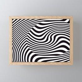Black and White Pop Art Optical Illusion Framed Mini Art Print