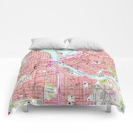 Vintage Map of Cedar Rapids Iowa (1967) Comforters