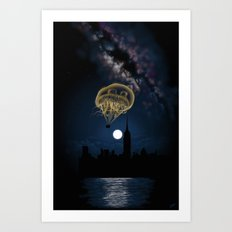 Moon Light Ride Art Print