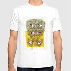 UNITED COLORS Mens Fitted Tee White SMALL