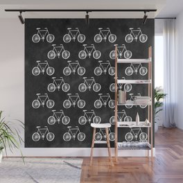 Bicycle Pattern Wall Mural