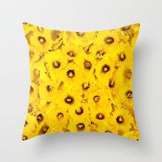 Daffodils en-masse Throw Pillow